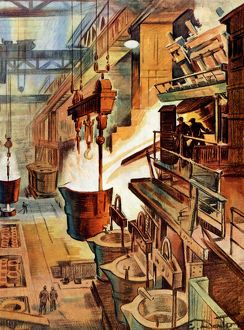 Sheffield's steel industry - from Pageant of Production Souvenir Programme, 1948