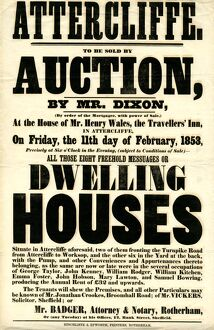 To be sold by auction... all those eight freehold messuages or dwelling houses at Attercliffe