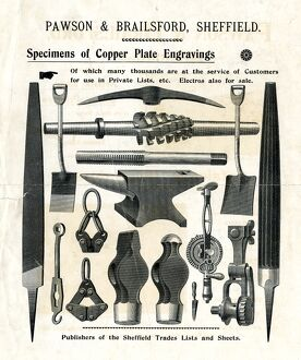 Specimens of copper plate engravings by Pawson and Brailsford