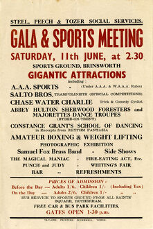 posters/steel peech tozer social services gala sports meeting