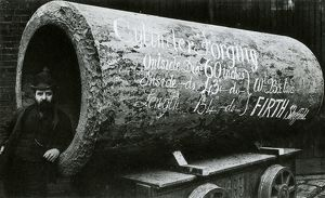 Thos. Firth and Sons Ltd., Norfolk Works - hollow forging for hydraulic cylinder