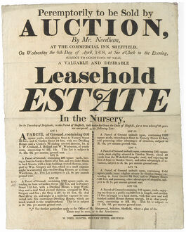 posters/valuable desirable leasehold estate sold auction