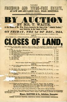 posters/valuable freehold tithe free estate low ash larch