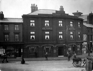 Victoria Hotel, 1913-14, corner of Furnival Road (left) and Exchange Lane (right)
