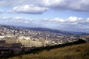 View N.W. from Skye Edge showing Park Hill Flats in the foreground, 1984