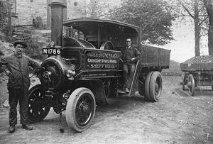 Walter Spencer and Co. Ltd., steam lorry at Rivelin Glen Quarry, Sheffield, Yorkshire