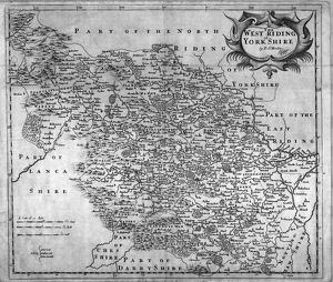 The West Riding of Yorkshire by Robert Morden, 1695
