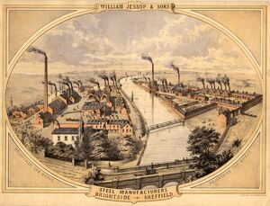 William Jessop and Sons, Brightside Works, Brightside Lane, c.1858