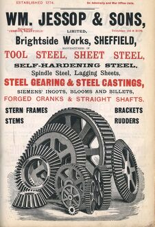 William Jessop and Sons, steel manufacturer, Brightside Works, 1900