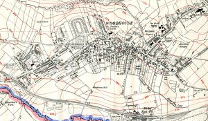 Woodhouse (extract from Ordnance Survey of 1935, revised to 1948)