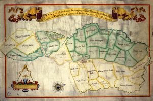 A map of all the lands belonging to Robert Newton esquire at Woodthorpe [Holmsfield]